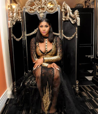 Exotic-looking Angela Okorie shares more photos from her birthday shoot