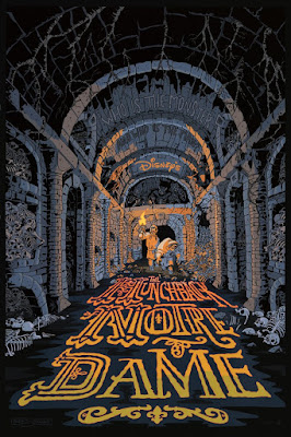 Disney's The Hunchback of Notre Dame Screen Print by Chris Schweizer x Cyclops Print Works
