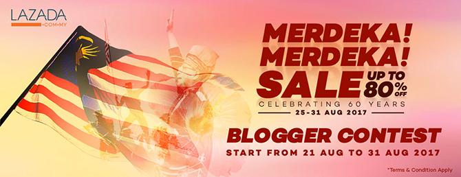 Merdeka!Merdeka! Blogger Contest anjuran Lazada Malaysia