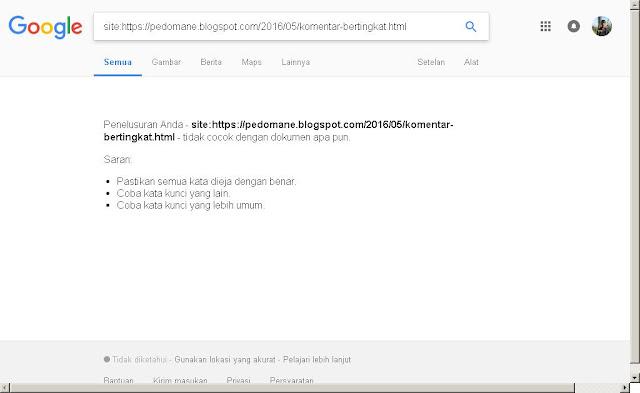 alasan mengapa blog tidak tampil di Google