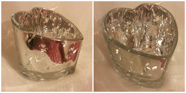 Heart Shaped Silver Tealight Holder