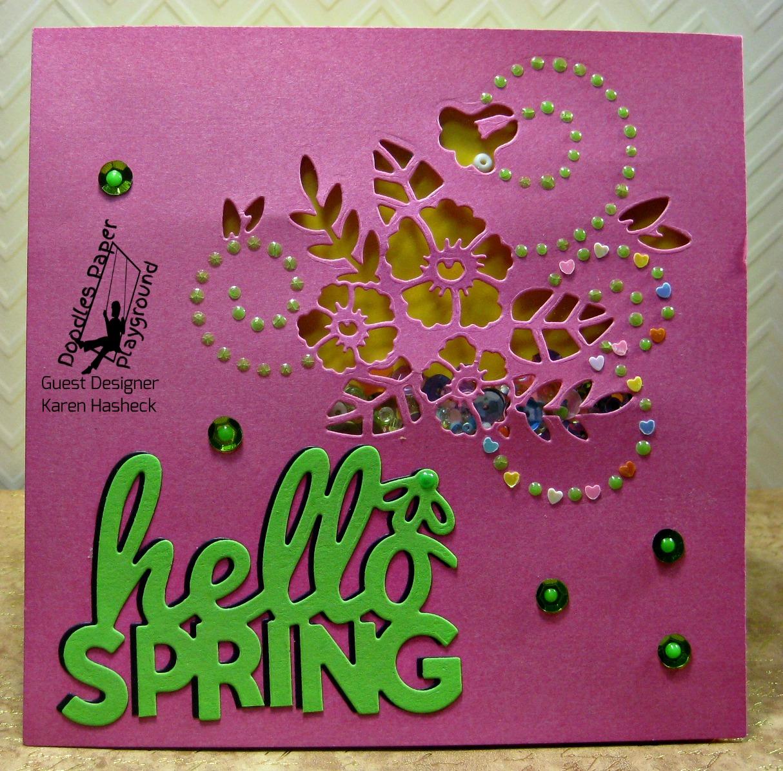 Karens Kreative Kards Video Spring Fling And Shaker Cards Using