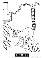 Animal Alphabet L Lemur