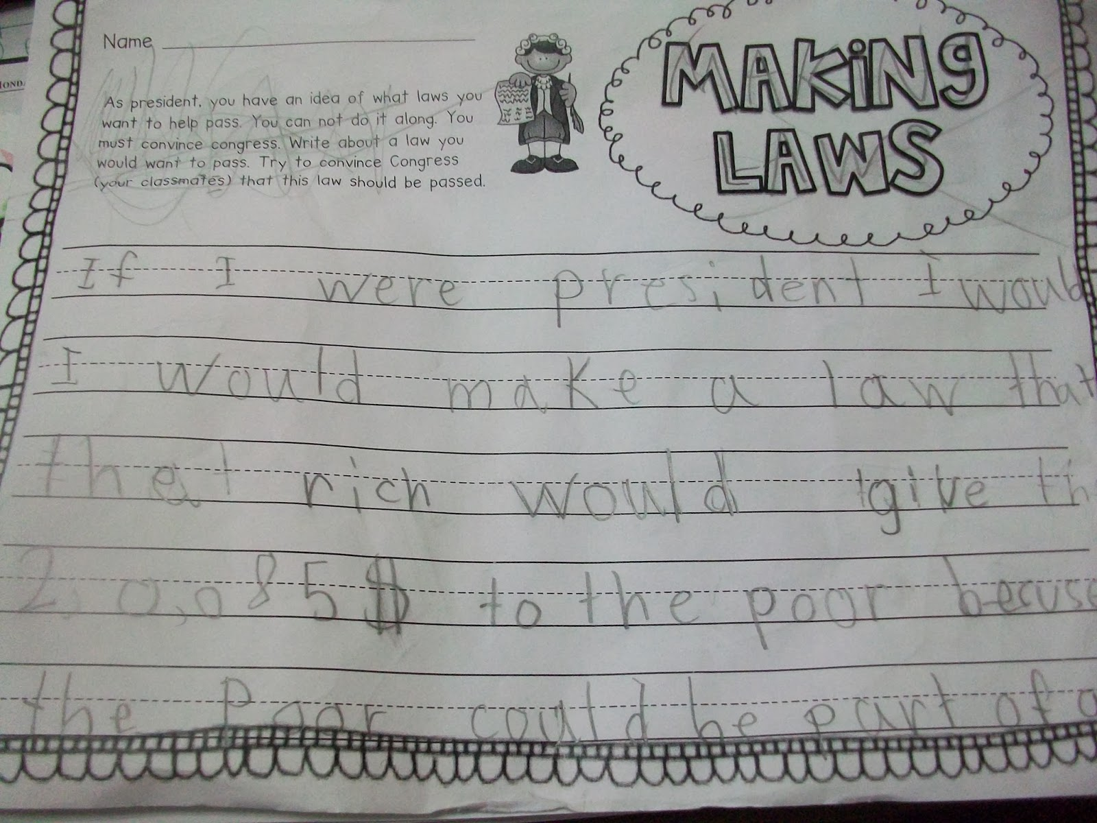 Presidents Day Writing Activities 5th Grade
