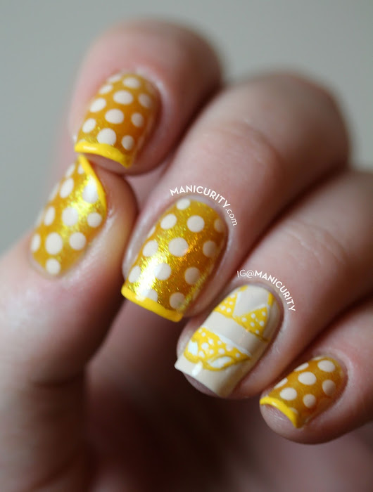 The Digit-al Dozen: Itsy Bitsy Teeny Weeny Yellow Polka Dot Bikini Nails