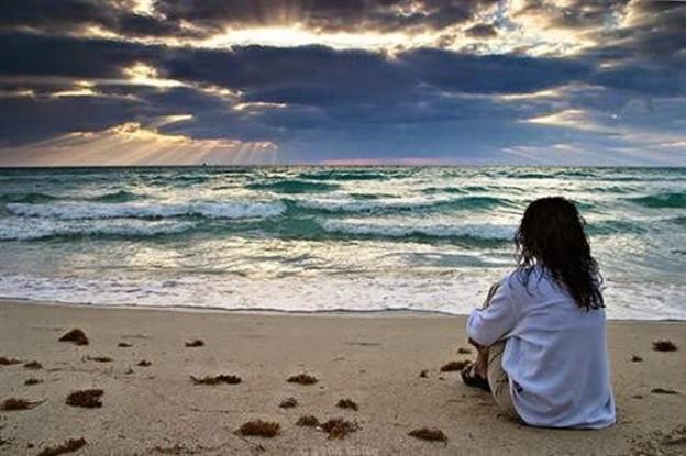 Sad Girl on Beach HD Wallpaper  For Desktop Backgrounds