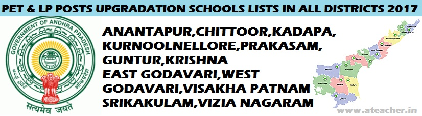 #AP #LANGUAGE #PANDITS-TELUGU,HINDI,URDU,KANNADA,ORIYA,TAMIL AND PHYSICAL EDUCATION TEACHERS($P.E.T)  #UPGRADATION  POSTS DISTRICT WISE SANCTION,LP Posts are Upgraded to SAs, Upgradation of LP posts as SA(Languages) in AP High Schools, Upgradation of Language Pandit posts as School Assistants(Languages) in High Schools, Upgradation of Grade II Language Pandits as SA, Rc No.882 Dt.12.12.16 -Upgradation of Language pandit Posts as School Assistants. PET Posts are Upgraded to SAs, Upgradation of PET posts as SA(Physical Education) in AP High Schools, Upgradation of Physical Education Teachers as School Assistants(Physical Education) in High Schools, Upgradation of PETs as SAs, Rc No.882 Dt.12.12.16 -Upgradation of Physical Education Teachers as School Assistants.CSE AP, Rc.No.882, Dt: 12 .12.2016, Sub: School Education Department - Up-gradation of Language Pandit posts in High Schools as School Assistants·,Kurnool District LP Upgrade Posts / PET Upgradation list, Anantapur District LP Upgrade Posts / PET Upgradation list, YSR Kadapa District LP Upgrade Posts / PET Upgradation list, Chittoor District LP Upgrade Posts / PET Upgradation list, Nellure District LP Upgrade Posts / PET Upgradation list, Prakasam District LP Upgrade Posts / PET Upgradation list, Guntur District LP Upgrade Posts / PET Upgradation list, Krishna District LP Upgrade Posts / PET Upgradation list, West Godavari District LP Upgrade Posts / PET Upgradation list, East Godavari District LP Upgrade Posts / PET Upgradation list, Visakhapatnam District LP Upgrade Posts / PET Upgradation list, Vijayanagaram District LP Upgrade Posts / PET Upgradation list and Srikakulam District LP Upgrade Posts / PET Upgradation list Download Below links.PROCEEDINGS OF COMMISSIONER OF SCHOOL EDUCATION,ANDHRA PRADESH, AMARAVATI Present :K.Sandhva Rani, I.Po.S. Rc.No.882/(D1-4) Estt.IV/2011-1,Dt:12.12.2016,Sub:- School Education Department - Up-gradation of Physical Education Teachers in High Schools as School Assistant (Physical Education) in Govt. and Z.P. High Schools - Orders - Issued.