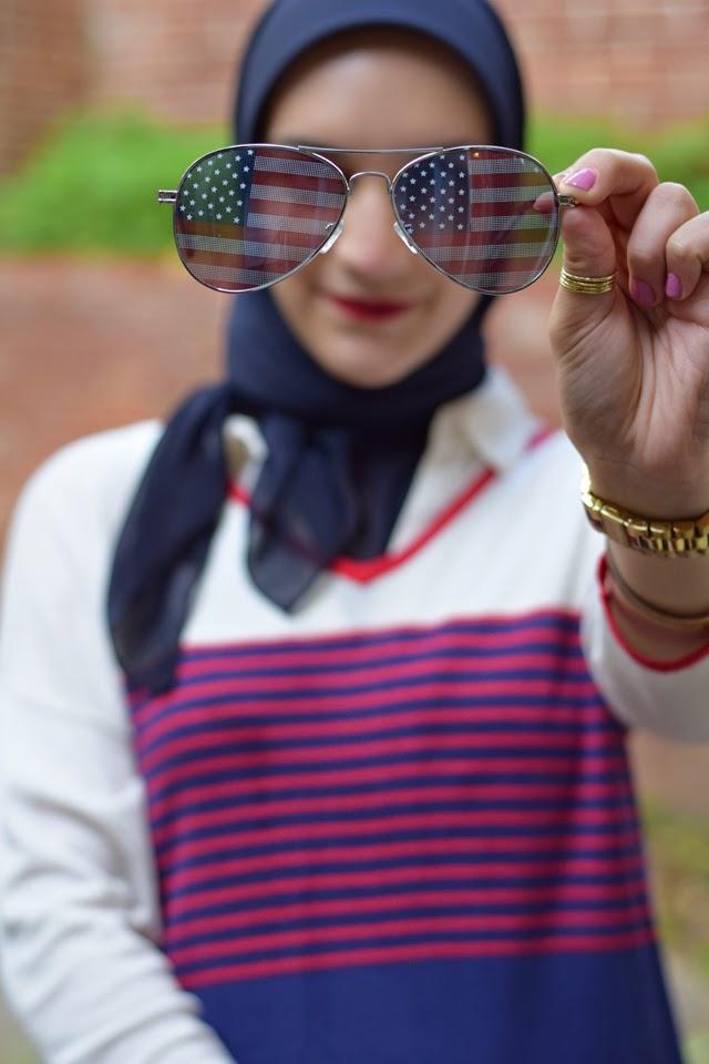 American Flag Sunglasses, Aviator
