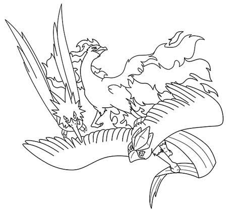 Pokemon Articuno Coloring Pages Printable - Free Pokemon Coloring Pages