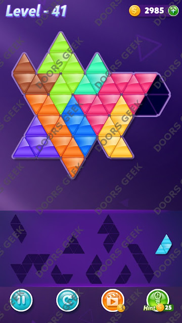 Block! Triangle Puzzle Proficient Level 41 Solution, Cheats, Walkthrough for Android, iPhone, iPad and iPod