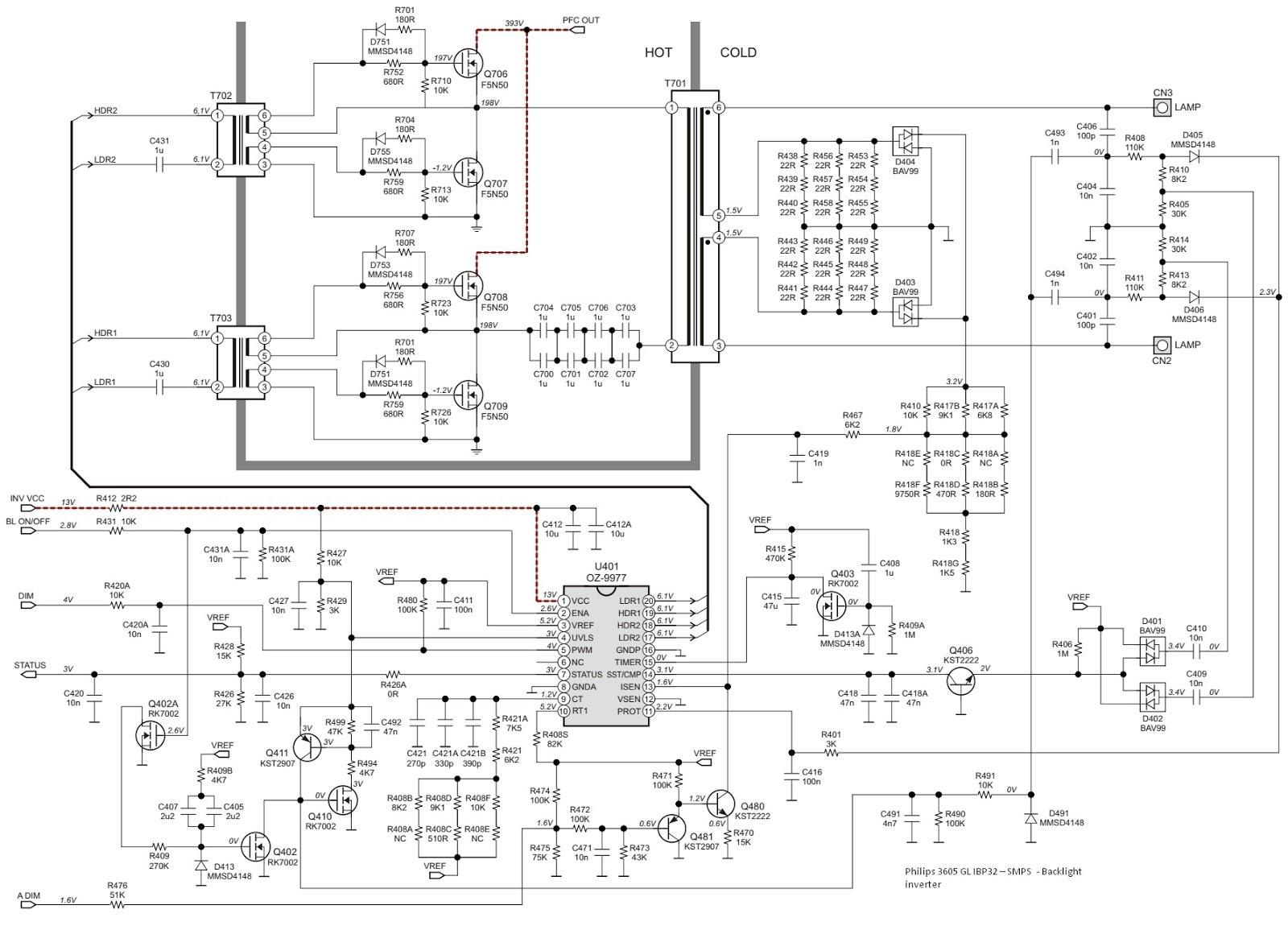 Schematic Diagrams: Philips 3605 GL IBP32 and LG LCD 08h3237 ... on