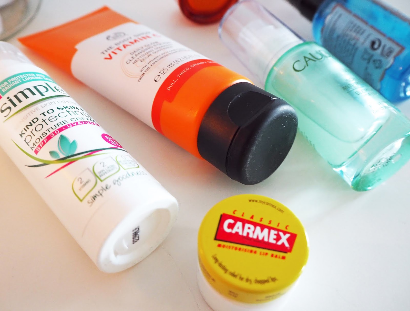 Morning Skincare Routine, Origins, The Body Shop, Simple, Caudalie, Carmex