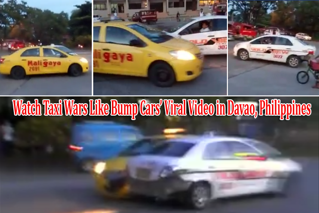 Watch Viral Taxi Wars like Bump Cars' Video in Davao, Philippines