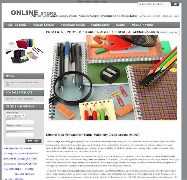 jual macam macam Alat tulis Kantor dari toko online www.stationery.biz.id
