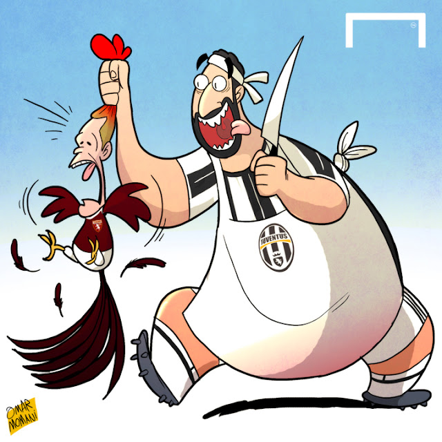Higuain and Belotti cartoon