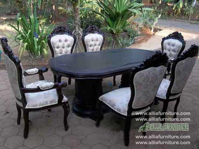 kursi meja makan set ukiran ganesha pandawa