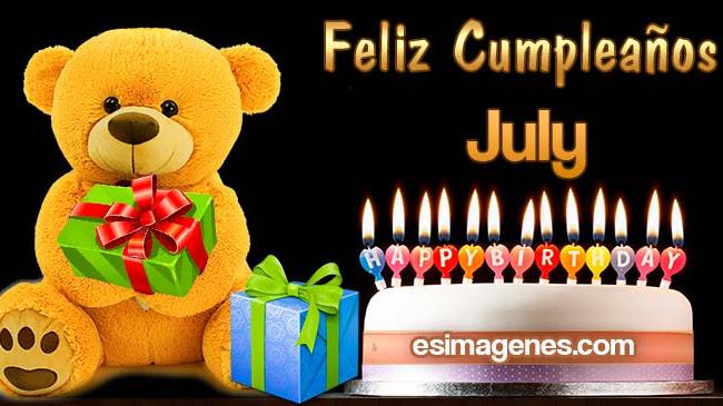 Feliz cumpleaños July