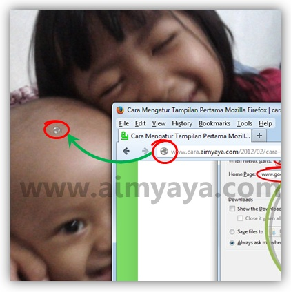 Gambar: Cara membuat shortcut alamat website di desktop komputer/laptop