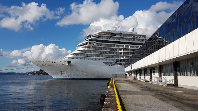 """The most luxurious cruise ship in the world"" Seven Seas Explorer in Bergen, Norway; RSSC; Cruise ships in Bergen"