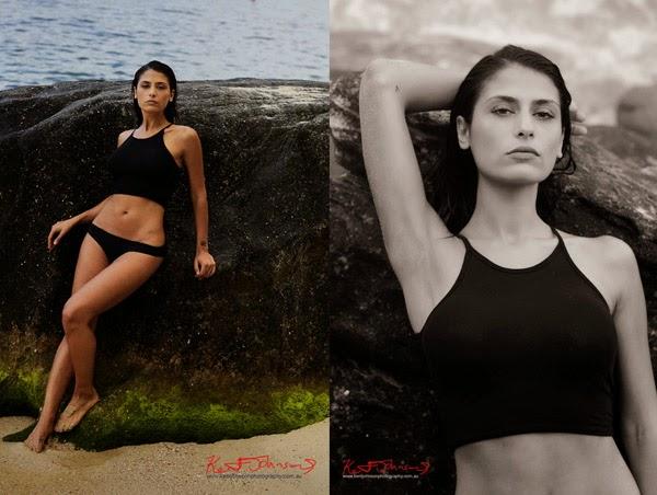 Swimwear, Sydney Summer beach location modelling portfolio photographer.