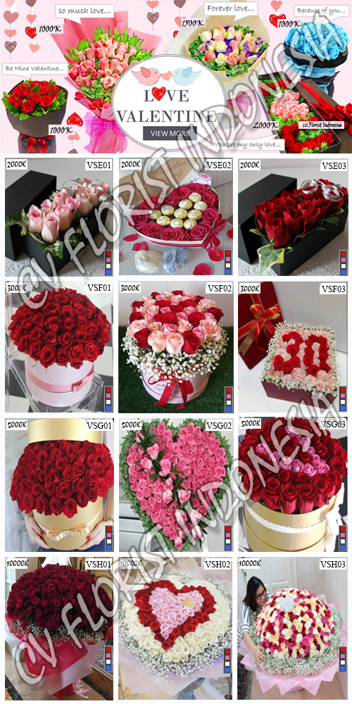 Hand Buket Bunga Mawar Valentine Jakarta Pusat