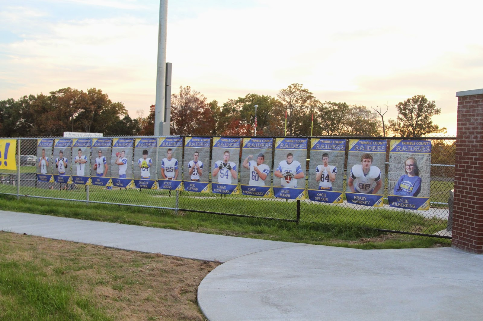 Trimble County Raiders Senior Football Player Banners | Banners.com