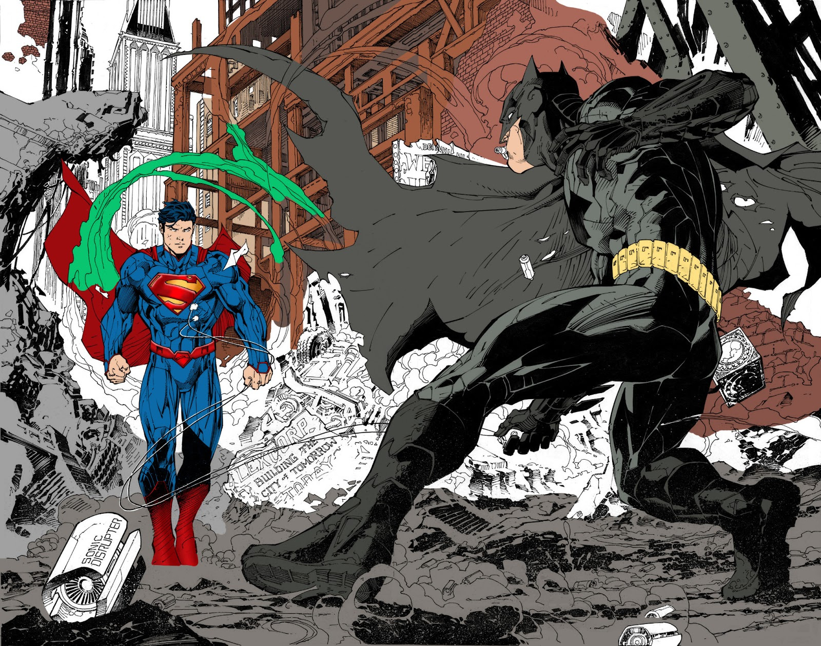 - A Simple Colorist's Art Blog: Jim Lee (Batman Vs Superman) WIP #2