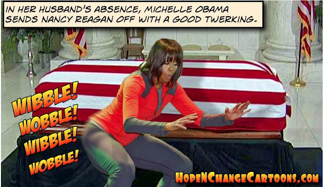 obama, obama jokes, political, humor, cartoon, conservative, hope n' change, hope and change, stilton jarlsberg, nancy reagan, just say no, SXSW, michelle, twerk