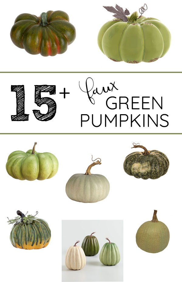 I love the sage green pumpkins fall decorating trend! Here's where to buy fake green pumpkins and gourds for autumn decor!