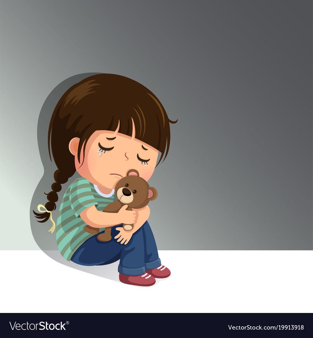 Inspirational tiny tales - Cartoon girl sitting alone ...