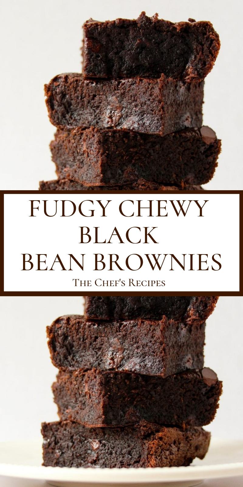 FUDGY CHEWY BLACK BEAN BROWNIES
