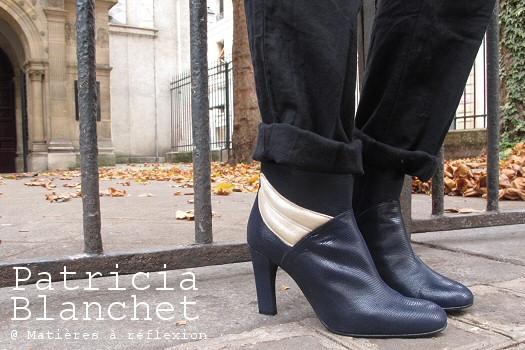 SOLDES Patricia Blanchet boots bleu