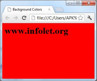 change background color html javasript