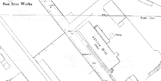 Albion Mill, OS map, 1890.