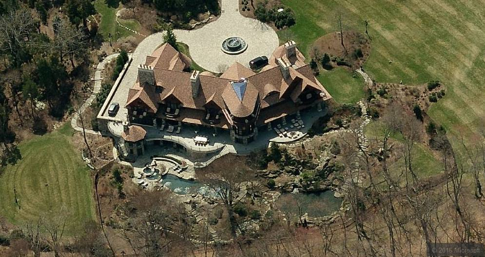 Aerial View of billionaire Robert Mercer mansion.