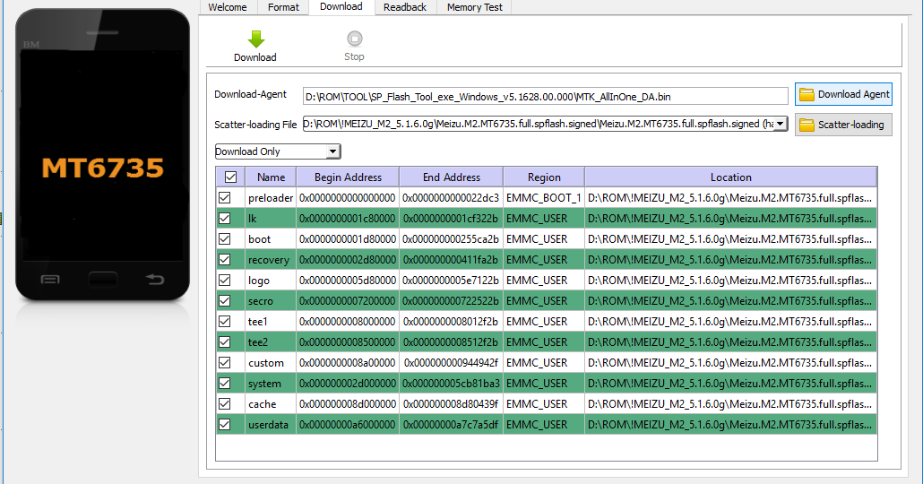 ROM][MT6735][STOCK ROM] MEIZU M2 Mini for SP Flash tool ~ Signaltech