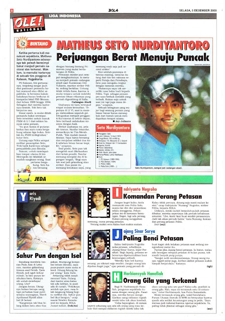 LIGA INDONESIA PROFIL BINTANG MATHEUS SETO NURDIAYANTORO