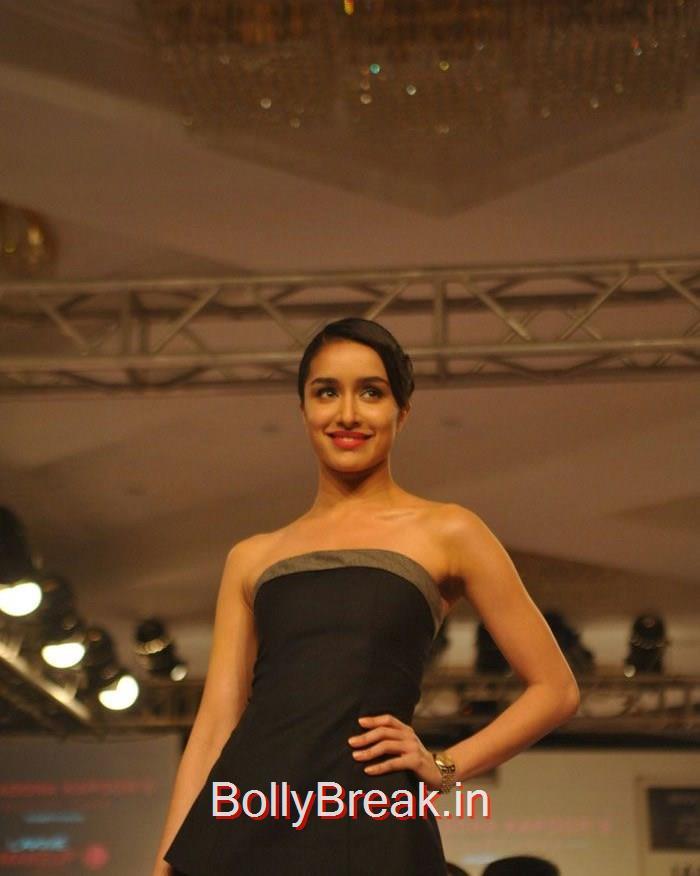 Shraddha Kapoor, Shraddha Kapoor in Black Tail Dress, Ramp Walk a Lakme fashion Week 2015