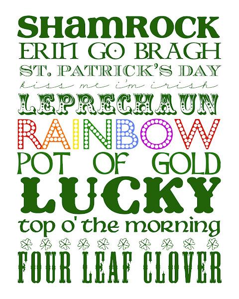 Funky Polka Dot Girraffe St. Patty's Day Printable