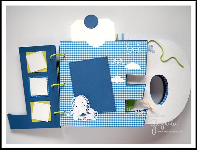Álbum de fotos para bebé. Estructura letras por Myriam Zapata
