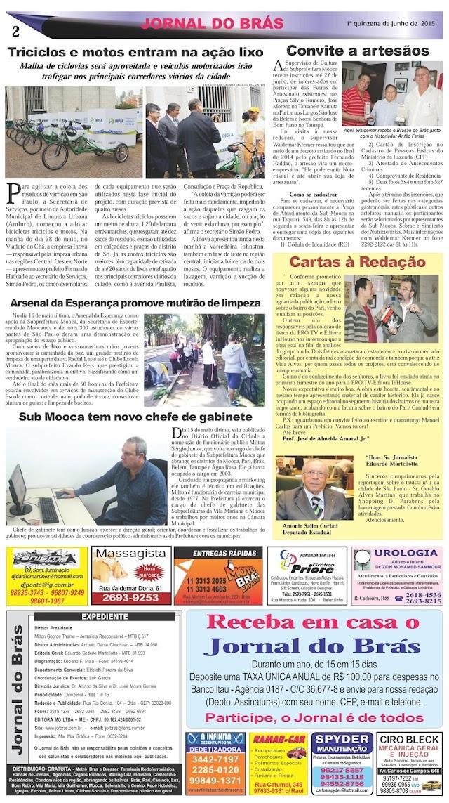 Destaques da Ed. 273 - Jornal do Brás