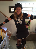 Christa Desir in roller derby gear