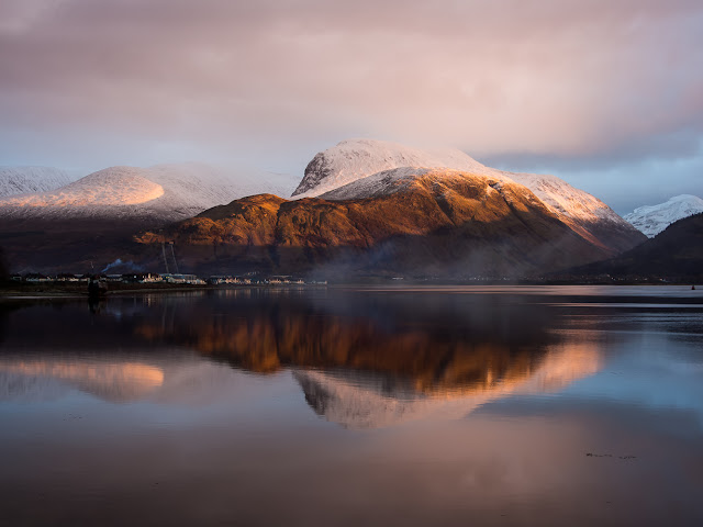 One of my many holiday snaps - snow on Ben Nevis in the Scottish Highlands
