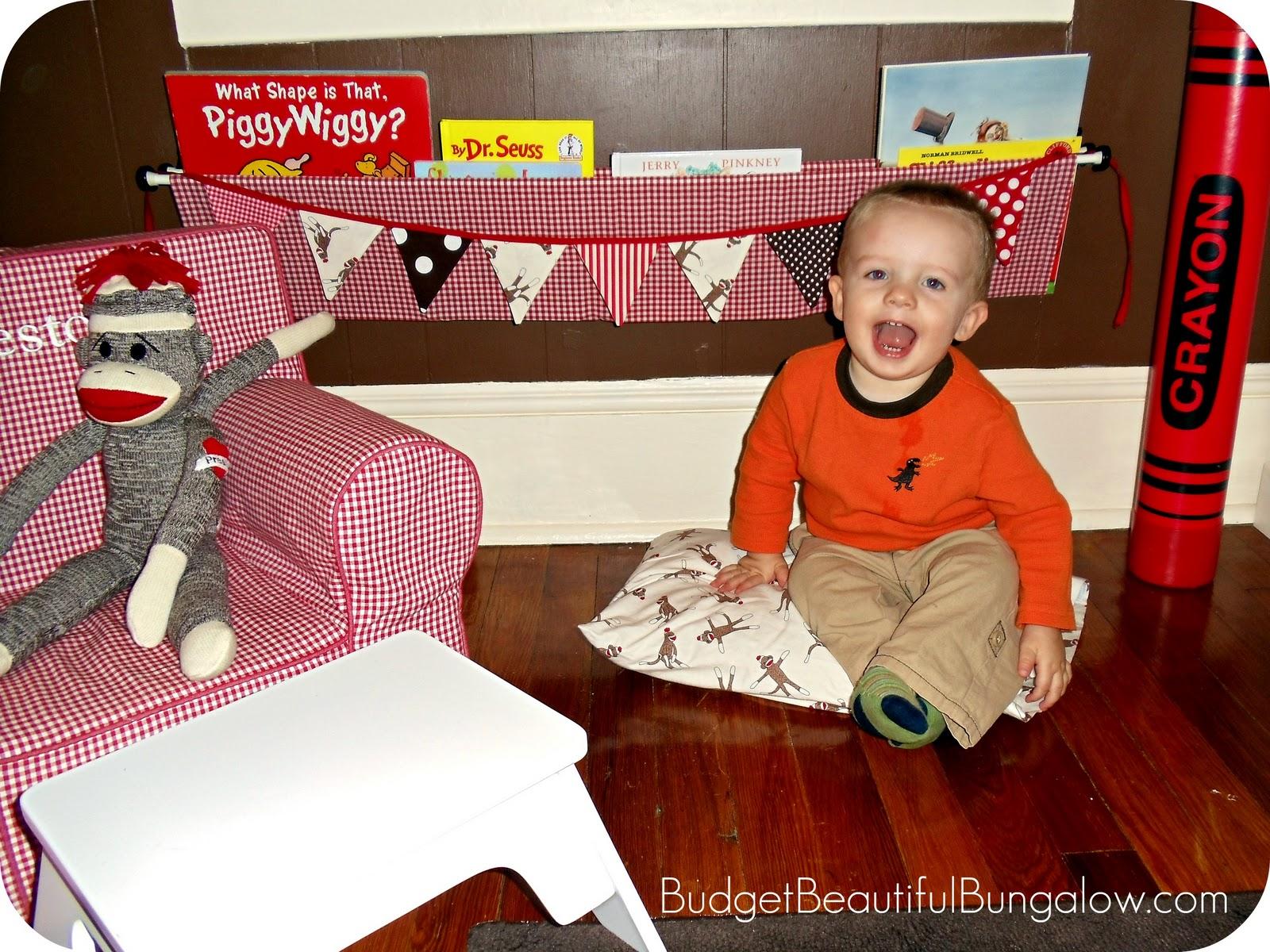 Budget Beautiful Bungalow Preston S Toddler Room Diy Wall Book Bin