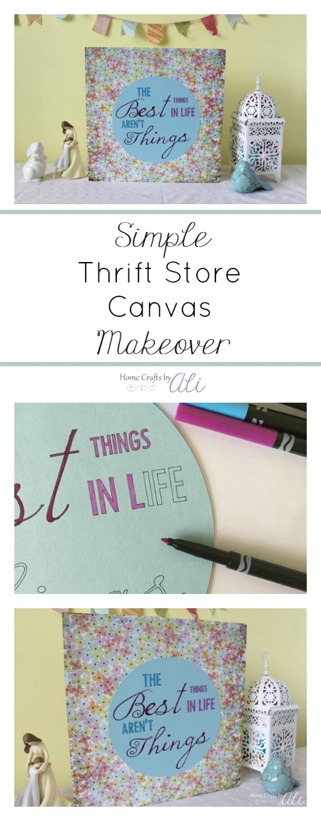 Simple tutorial to make a pretty canvas for your home using just a few craft supplies