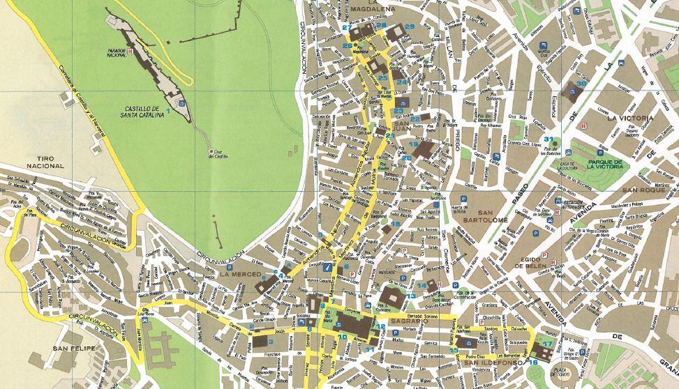 Mapa De Jaen Capital.Los Viajes De Hector Y Yolanda