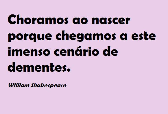 Shakespeare brasileiro: Roubar ou não roubar, eis a questão.