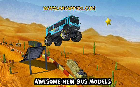 Free Download Crazy Monster Bus Stunt Race Apk Mod v1.3 Full Version 2017
