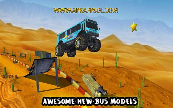 Free Download Crazy Monster Bus Stunt Race Apk Mod v1.3 Full Version 2017