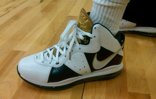 1dc8d70e1835 ... Nike Air Max LeBron 8 V1  SVSM  Saint Vincent – Saint Mary Home and  Away PE Sneakers! What you think of these  Another pic after the jump.
